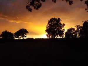 Sunset at Greenfield Farm B&B