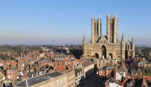 Lincoln Cathedral viewed from the Castle